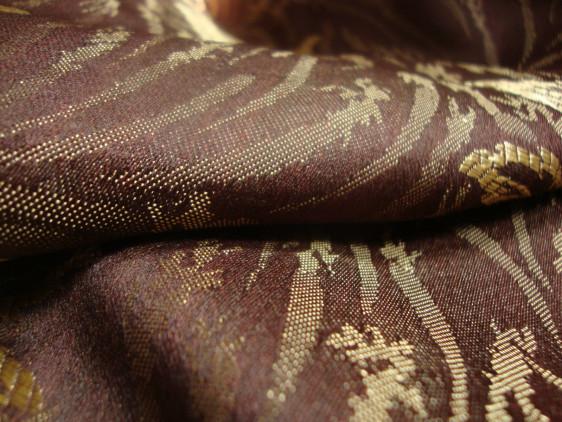 Lightweight Brown Floral Fabric