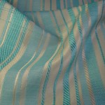 Blue Stripe Curtain Fabric