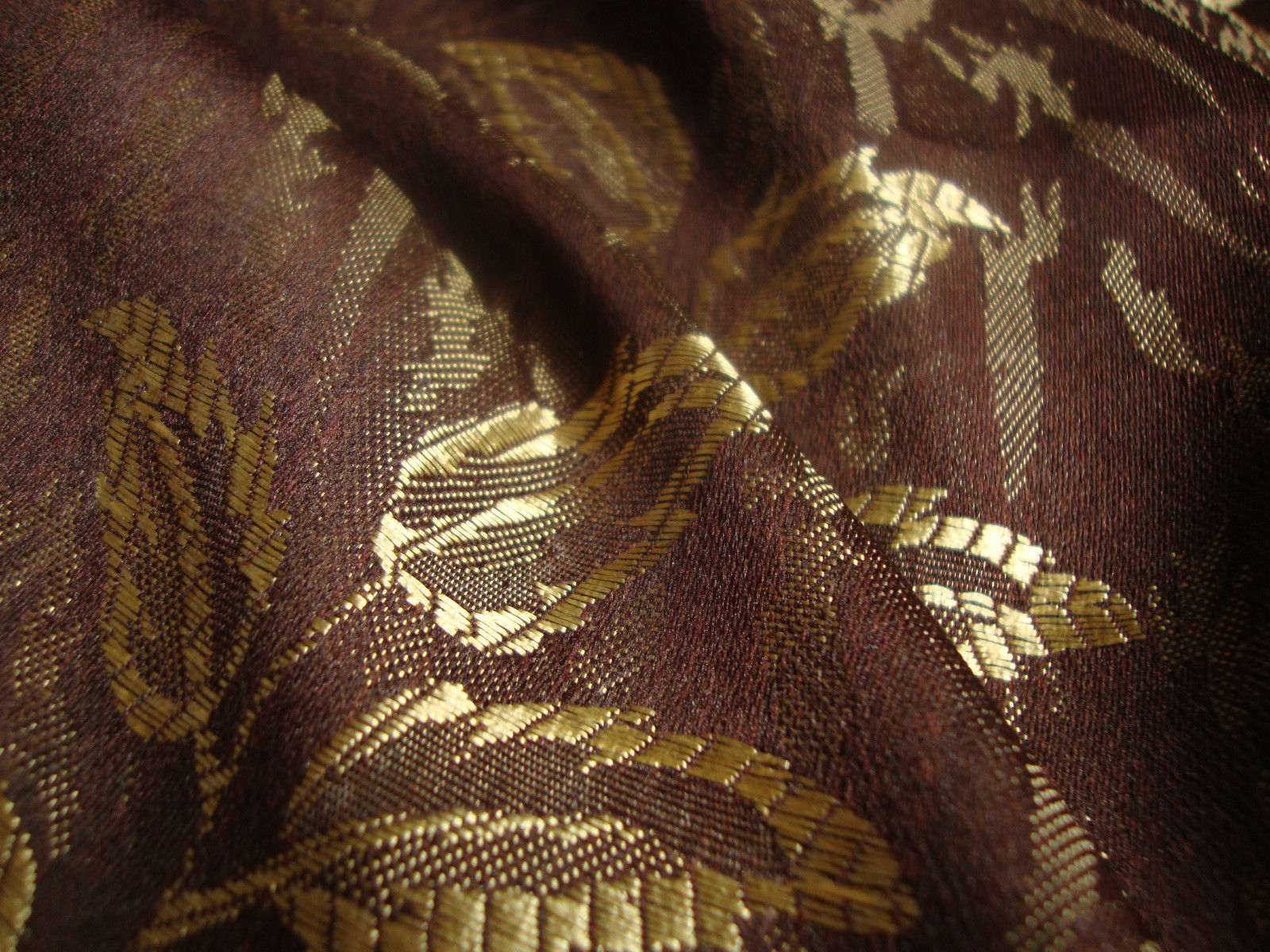 Lightweight Brown Floral Fabric