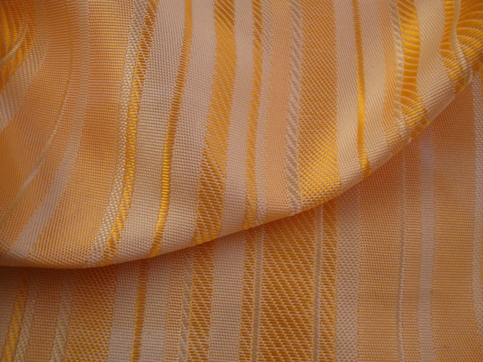 Chelsea Orange Striped Curtain Fabric Curtains Fabx
