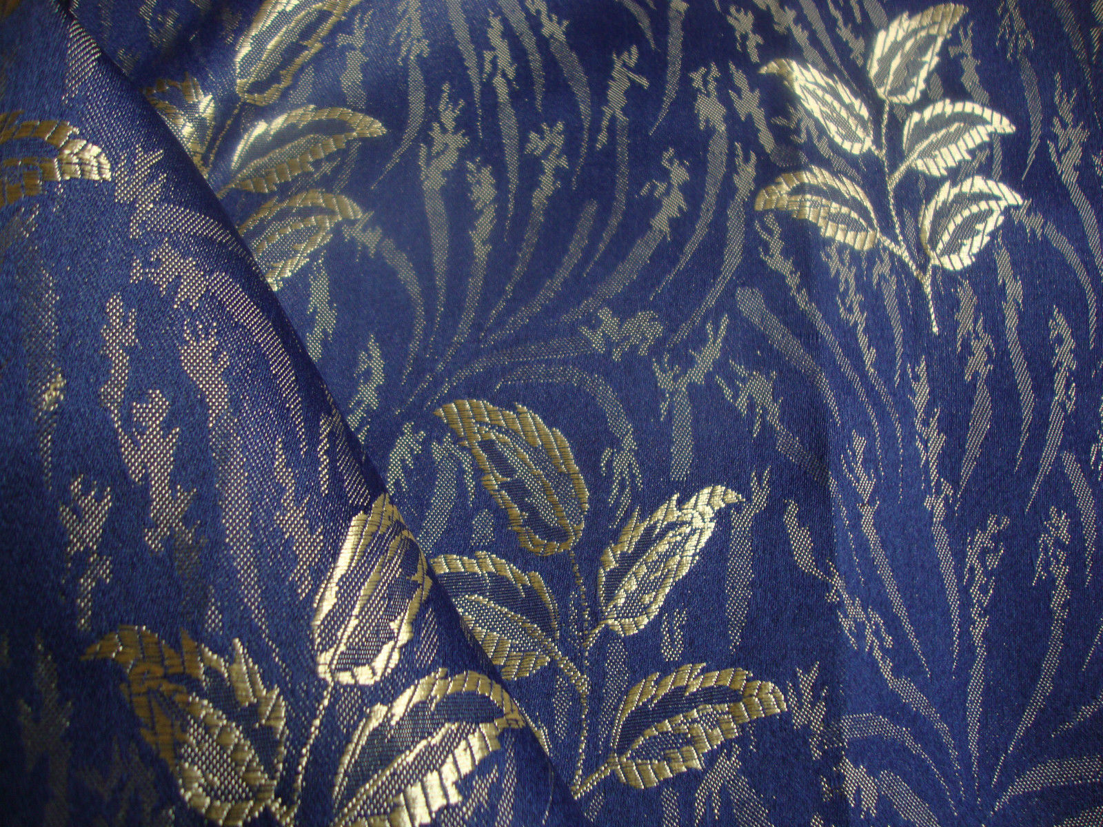 Bruges curtain fabric blue curtains fabx for Curtain fabric
