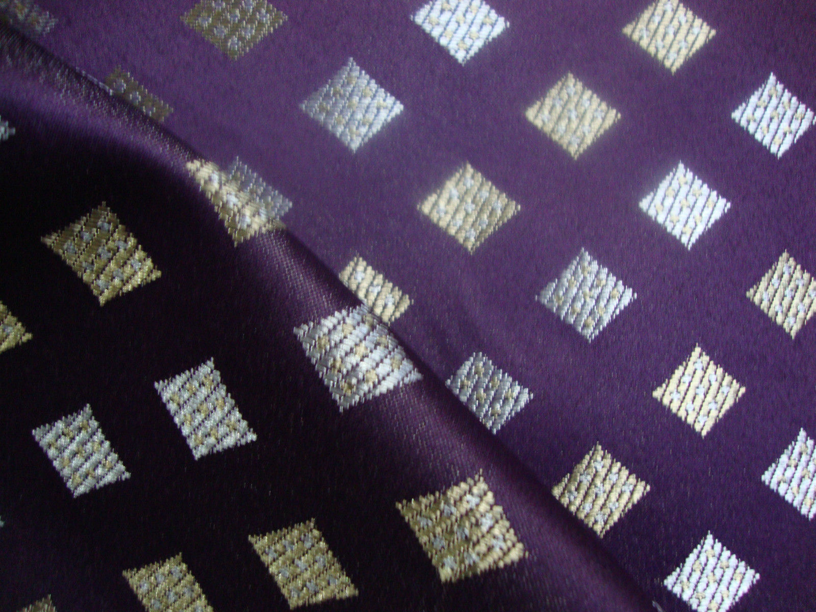 purple jacquard curtains