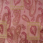 Paisley Fabric in Pink