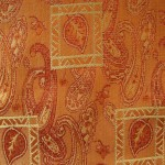 Orange Curtain material