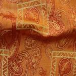 Orange Curtain material