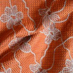 cairo terracotta curtain fabric