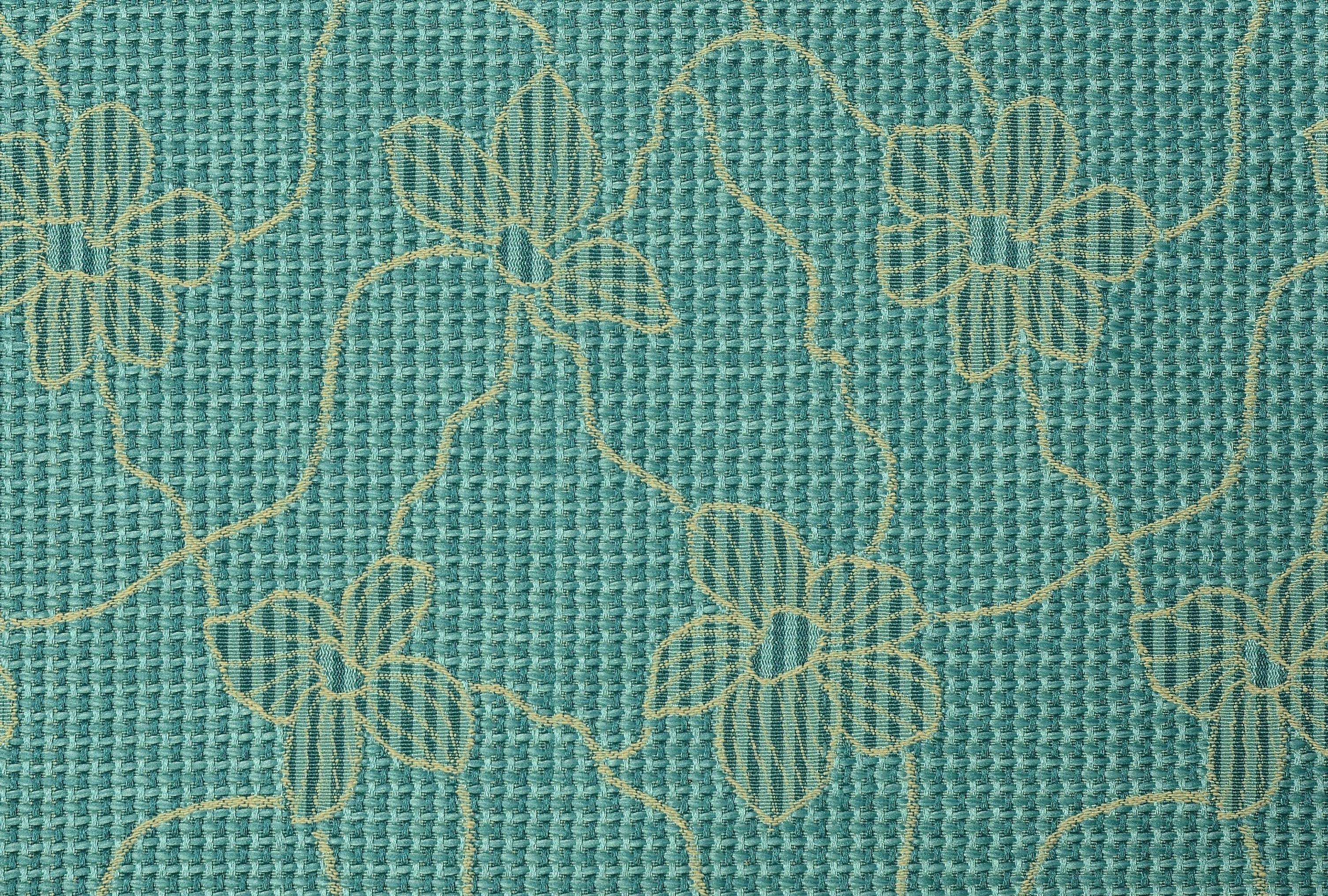 Cairo Jacquard Curtain Fabric Blue Curtains Fabx