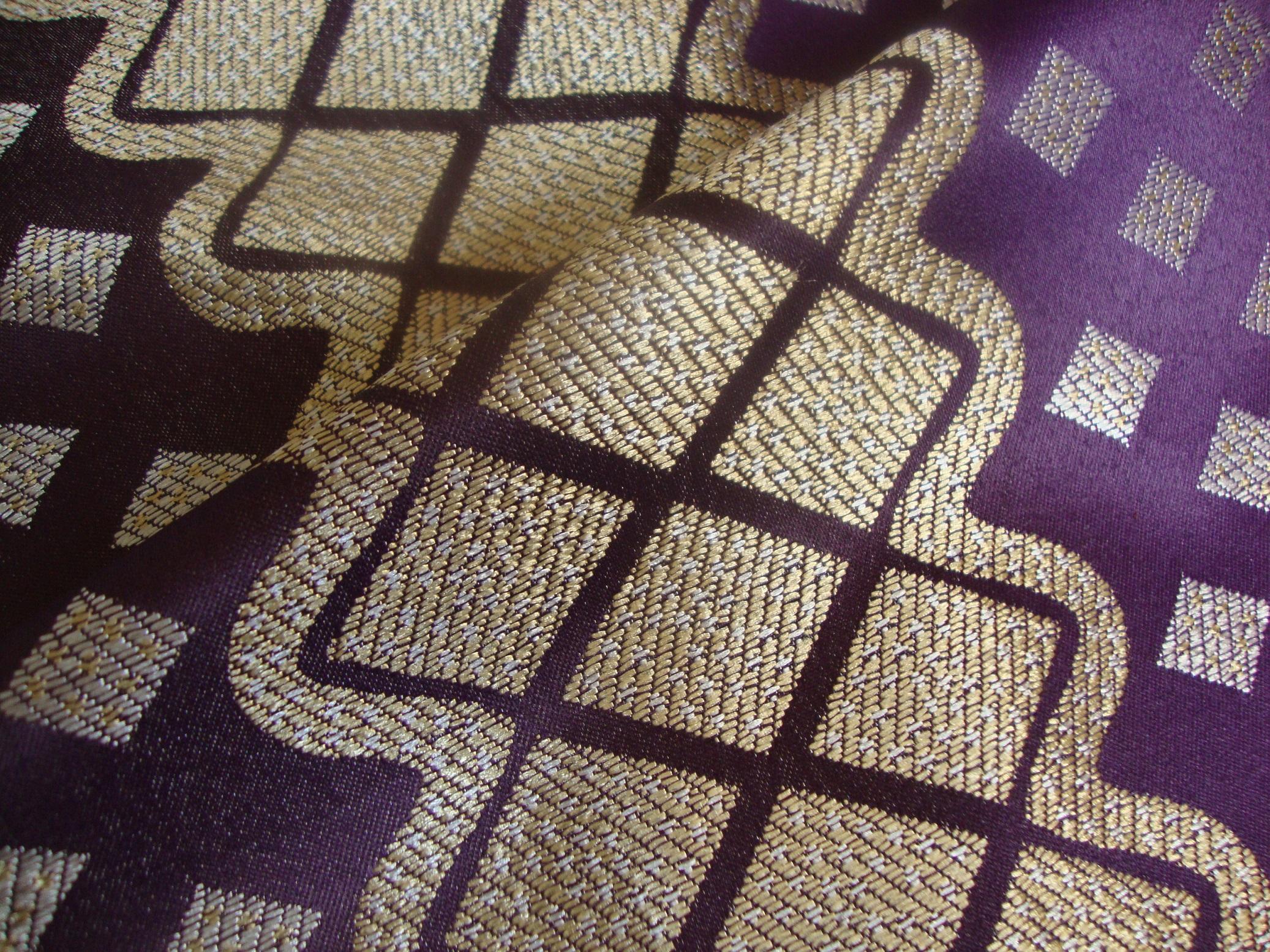 Purple Curtain Fabric
