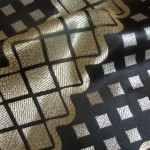 Black curtain fabric