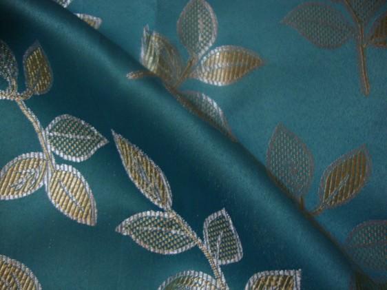 Blue Floral Curtain Fabric