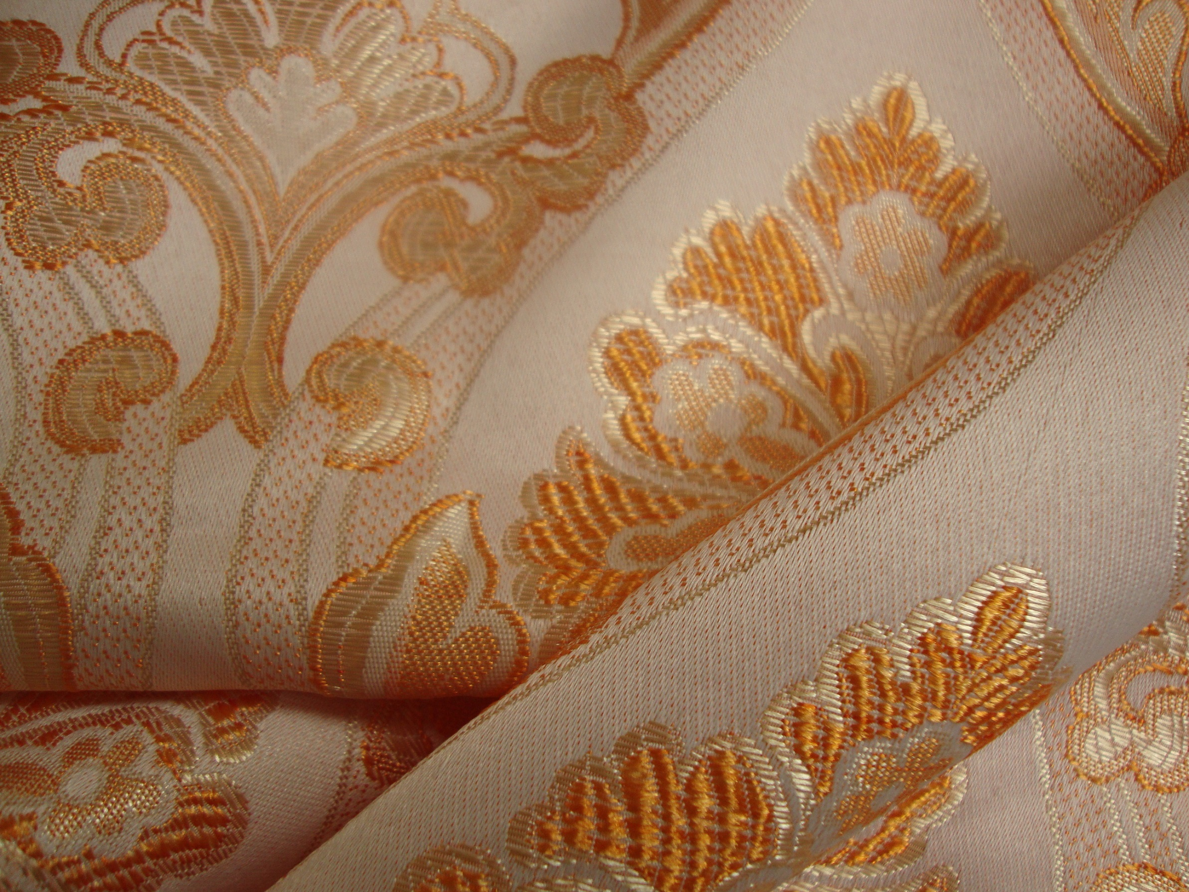Zagreb Curtain Fabric Orange Rust Curtains Fabx