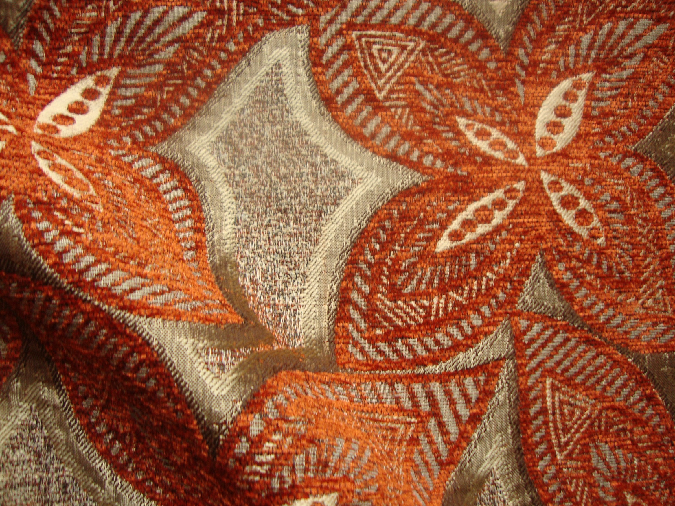 Pamir Orange Curtain Fabric