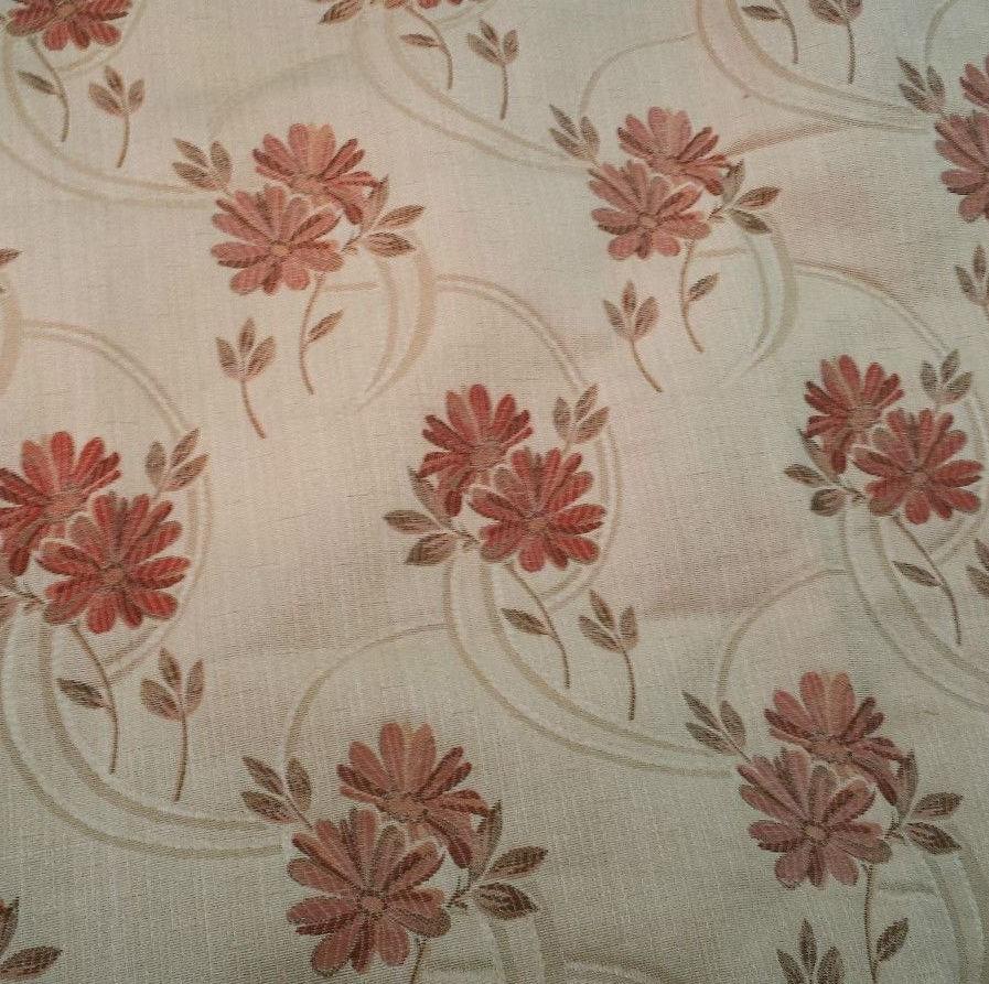 Rimini Floral Curtain Fabric Cream
