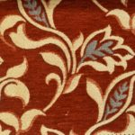 Terracotta Chenille curtain fabric
