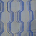 Blue curtain fabric