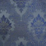 Blue Curtain Material