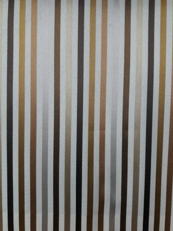 Brown Striped Curtain Fabric
