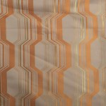 orange curtain fabric