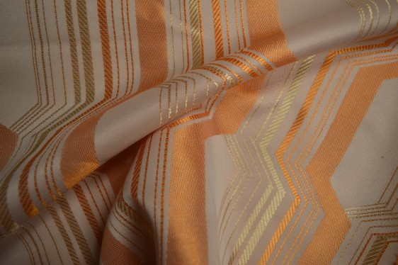 orange curtain fabric