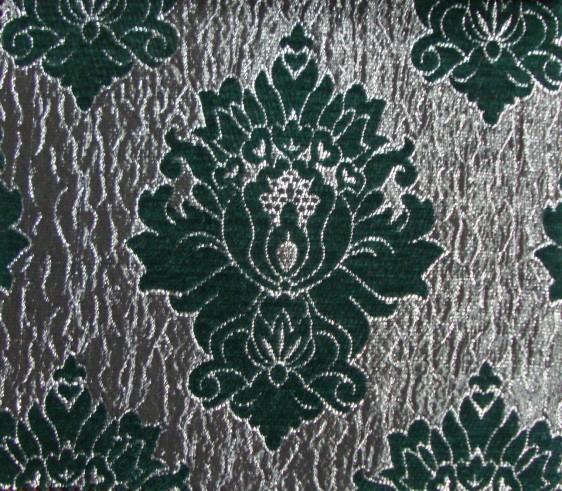 Wilton Curtain Fabric Green