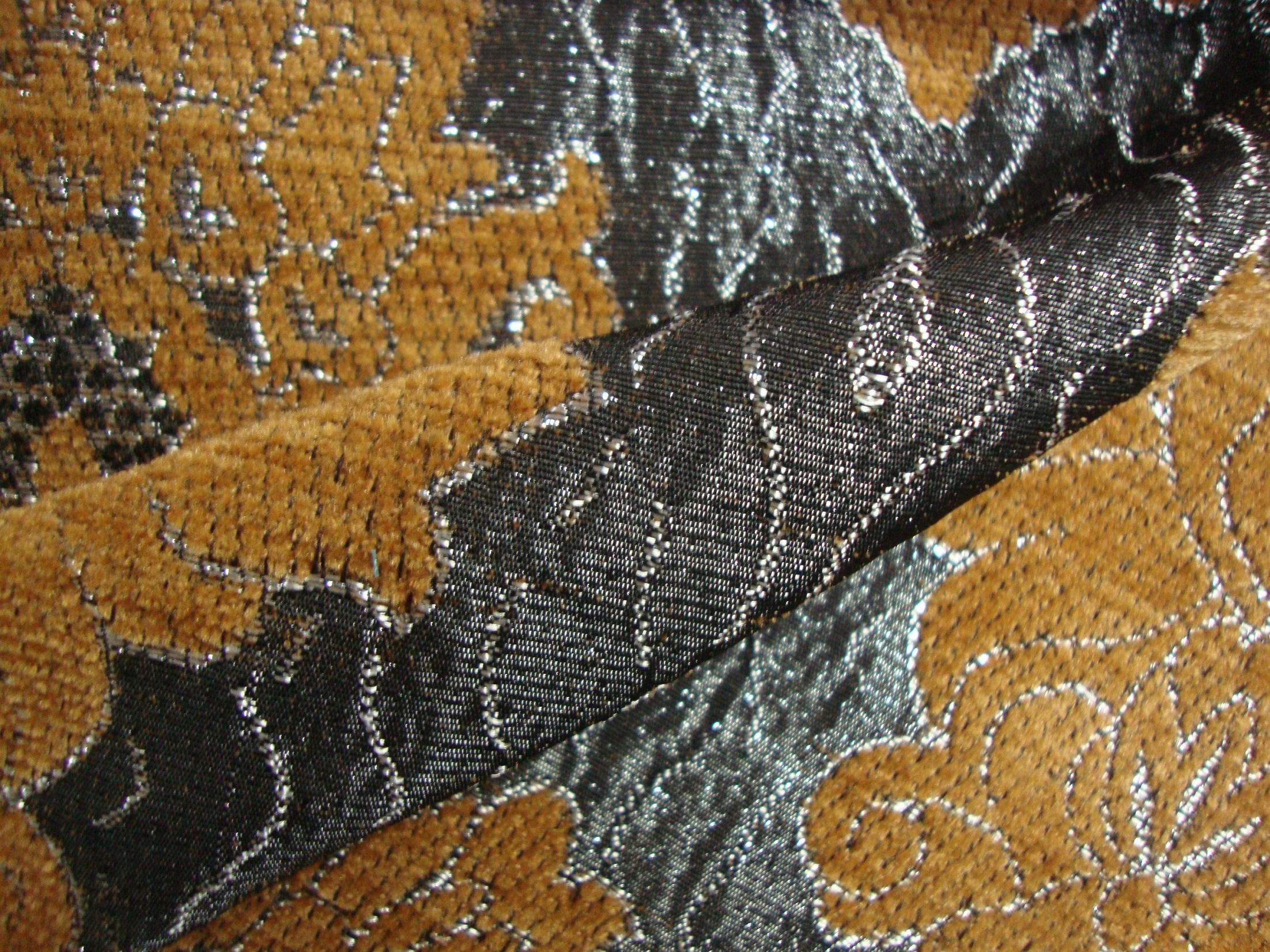 Wilton Curtain Fabric Mustard Yellow