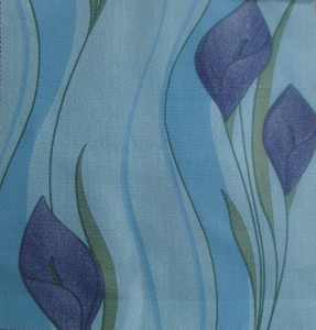 Peace lily Printed Curtain Fabric