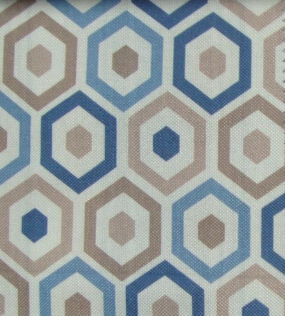 Belgrave Blue Curtain Fabric