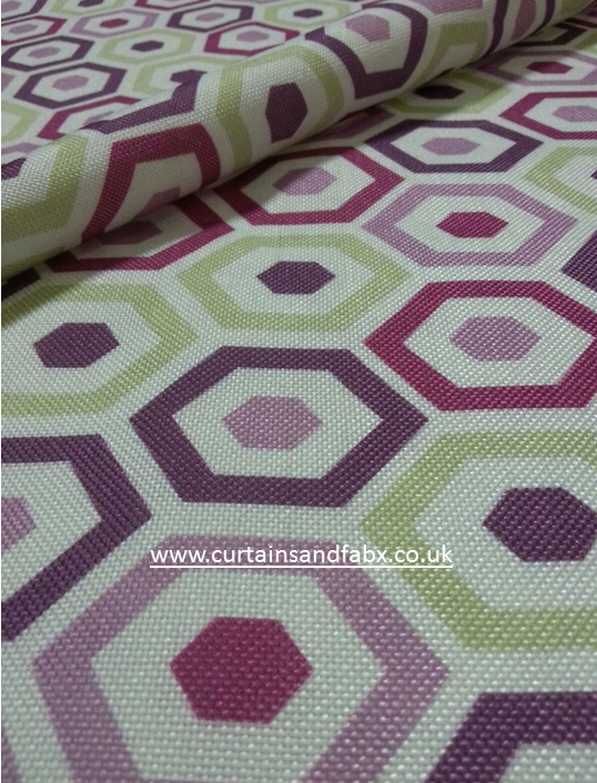 Belgrave Purple Curtain Fabric