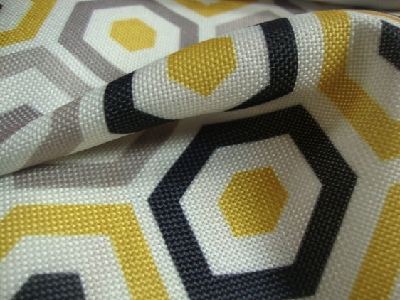 Geometric Print curtain fabric