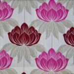 Pink floral pattern curtain fabric