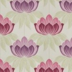 Purple floral curtain fabric