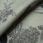 Meadows Grey Curtain Fabric