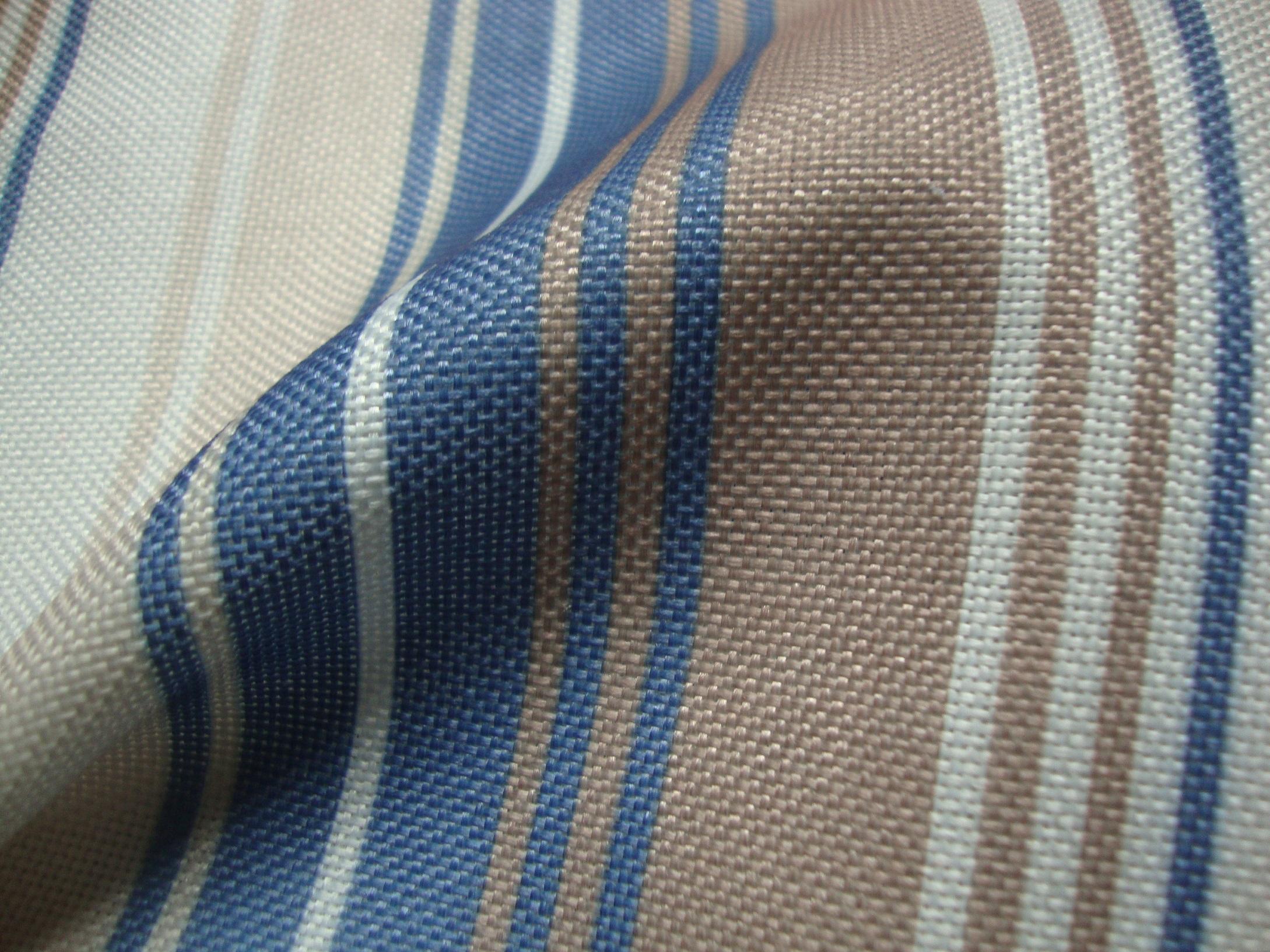 Nova Blue Stripes Curtain Fabric