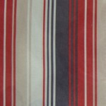 Nova Terracotta Stripes Curtain Fabric