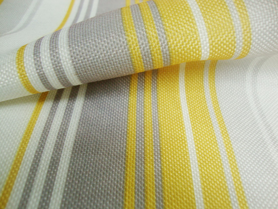 Yellow Stripes curtain fabric