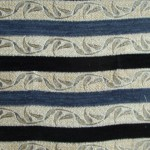 Blue and Black Stripes Fabric