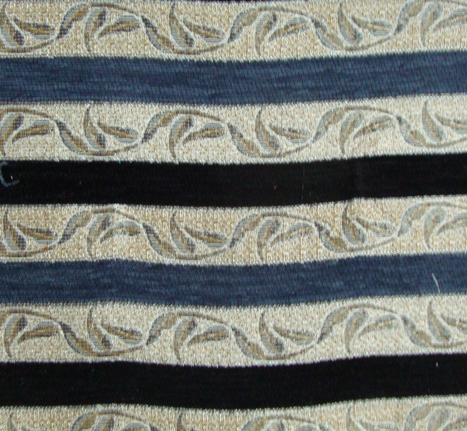 Hunza Blue And Black Stripes Fabric By Curtains Amp Fabx
