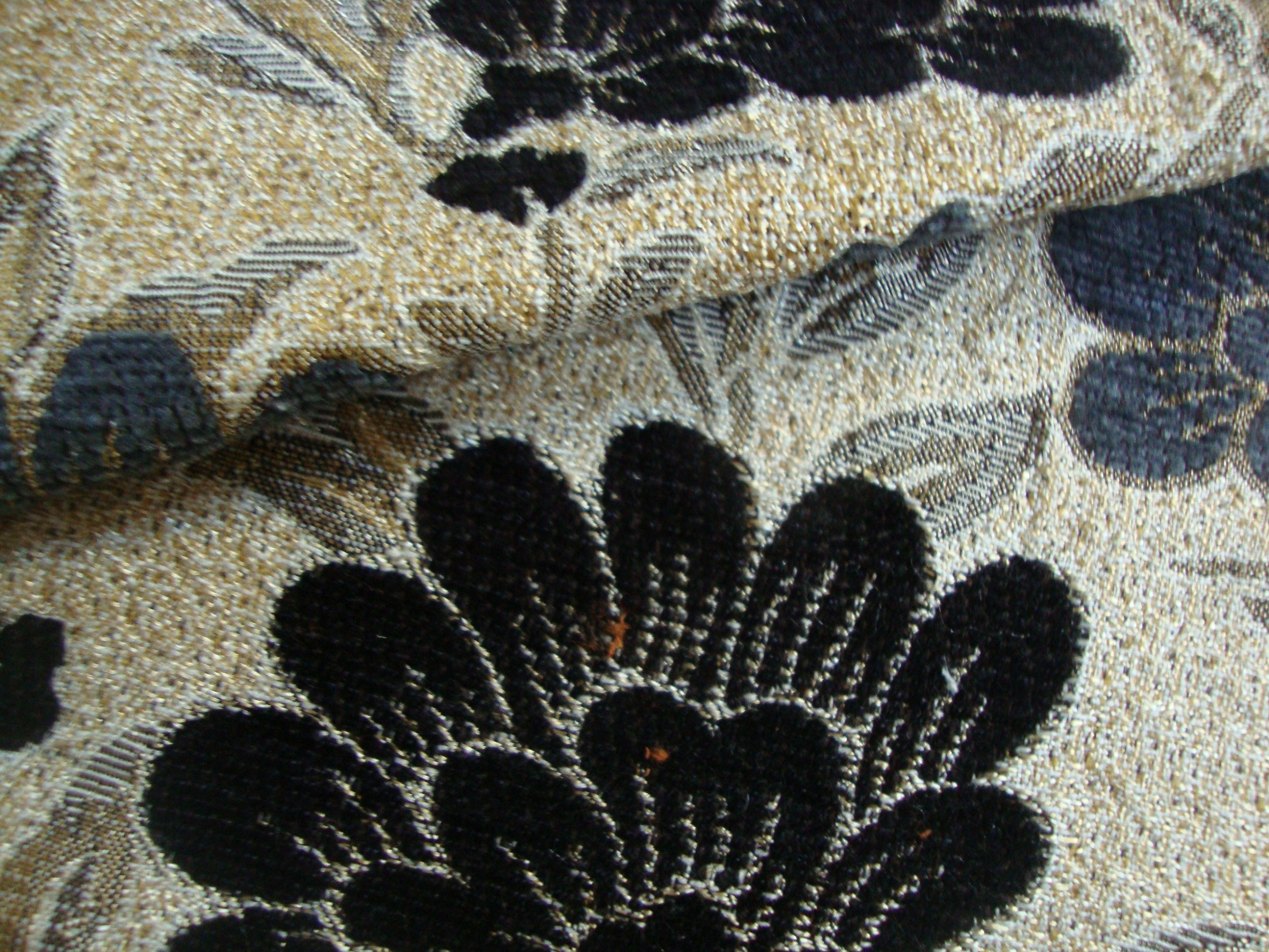 Blue and Black Curtain Fabric