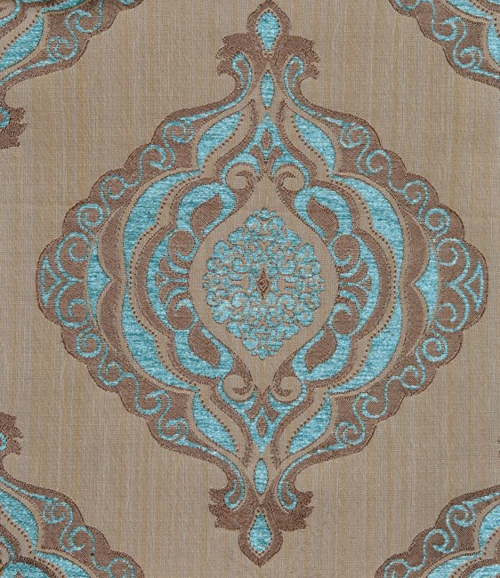Turquoise pattern fabric