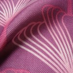 Purple art deco curtain fabric