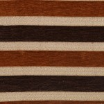 Brown stripes Curtain Fabric