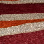 Chenille fabric with stripes