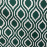 Green art deco curtain fabric