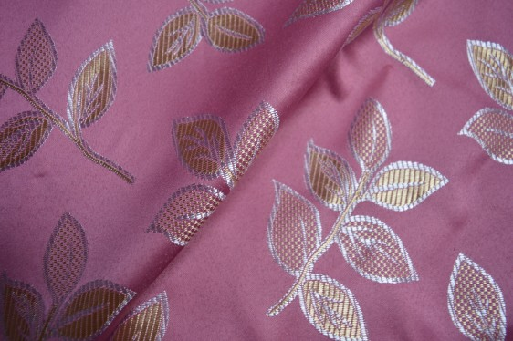 Pink floral curtain fabric