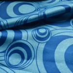 Curtain Material in Blue