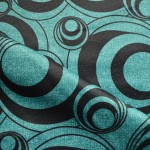 Curtain Material in Teal