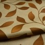 beige floral curtain fabric