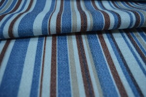 Blue Striped Curtain fabric