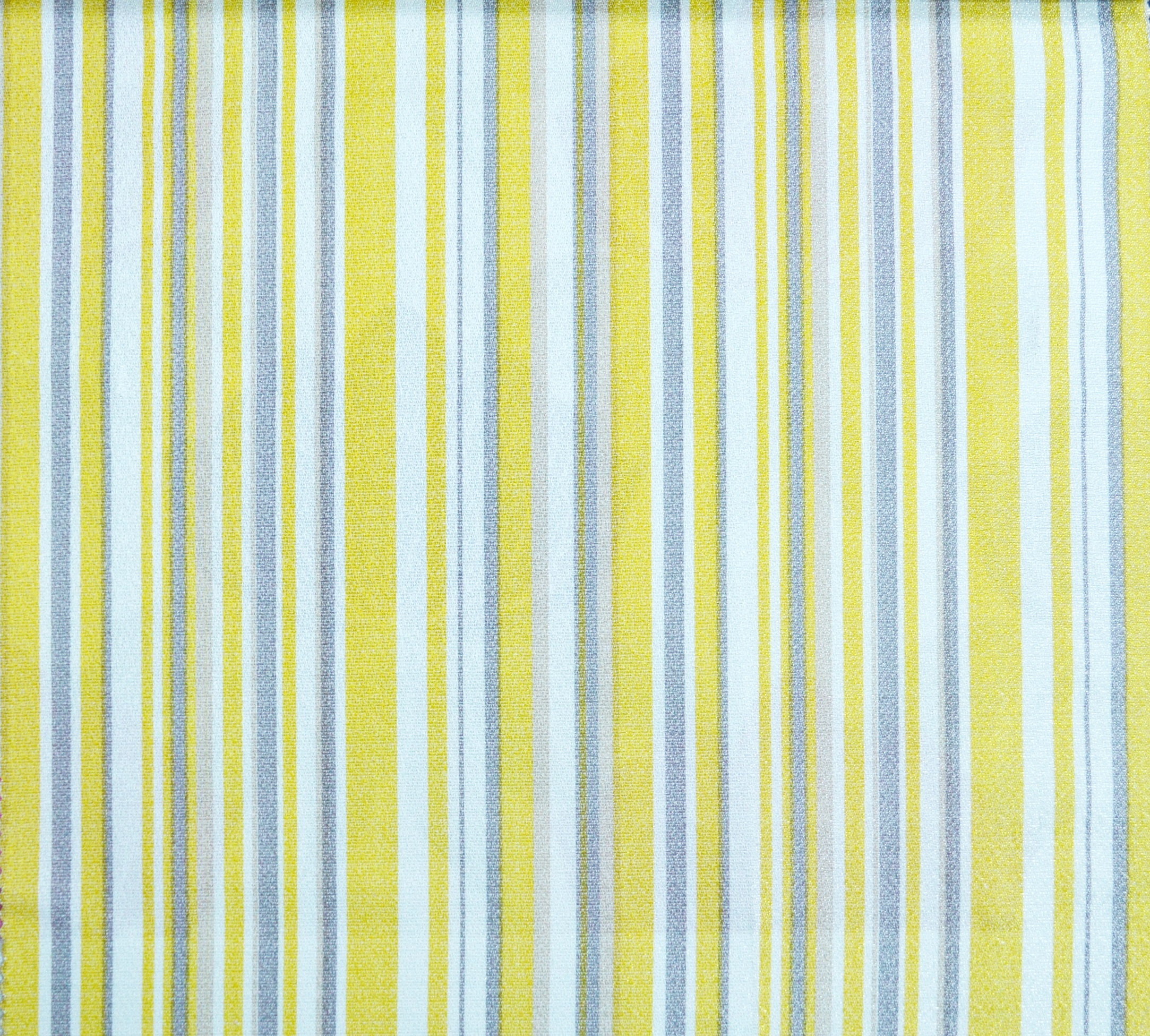 Yellow Striped Curtain Material; Yellow ...