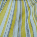 Yellow Striped curtain material